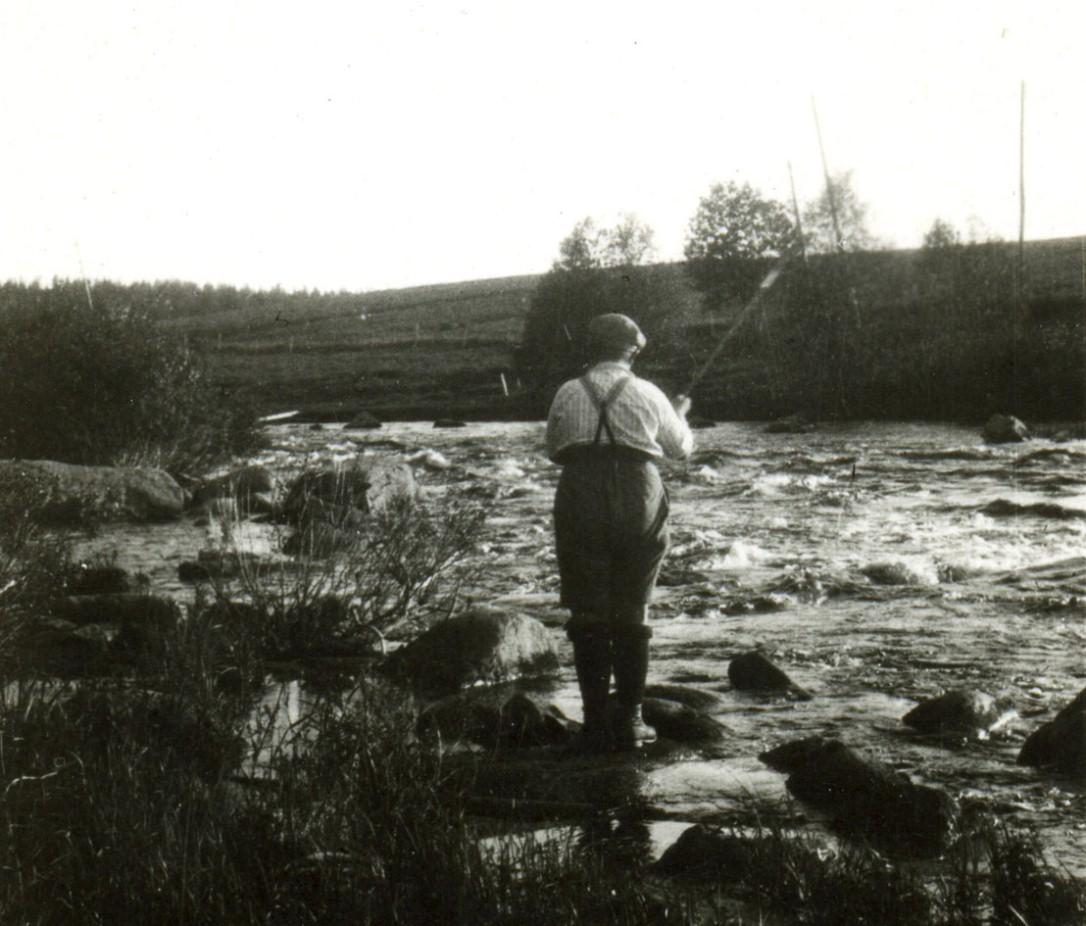 Roikolan koski Leuhujoessa 1950-luvulla